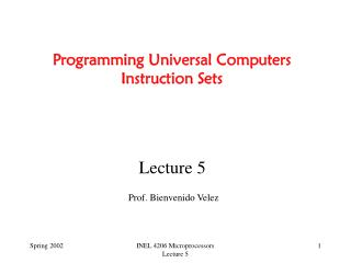 Programming Universal Computers Instruction Sets