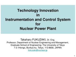 Technology Innovation in Instrumentation and Control System for Nuclear Power Plant