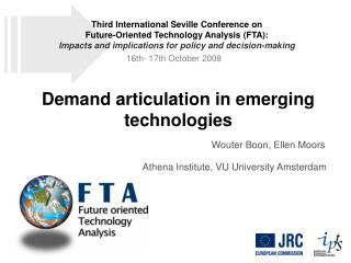 Demand articulation in emerging technologies