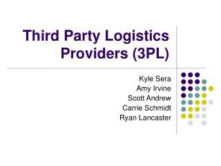 Third Party Logistics Providers 3PL
