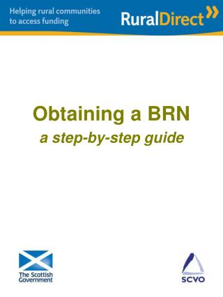 Obtaining a BRN a step-by-step guide