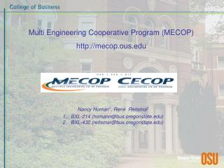 Multi Engineering Cooperative Program (MECOP) mecop.ous