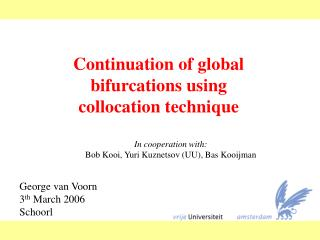 Continuation of global bifurcations using collocation technique