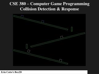 CSE 380 – Computer Game Programming Collision Detection & Response