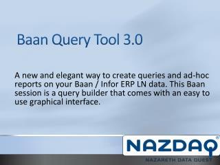 Baan Query Tool 3.0