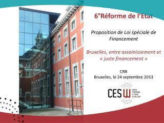CRB Bruxelles, le 24 septembre 2013