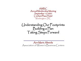 Ann Marie Almeida Association of Women's Business Centers