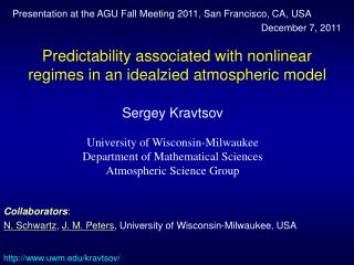 Predictability associated with nonlinear regimes in an idealzied atmospheric model