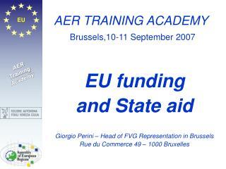 AER TRAINING ACADEMY Brussels,10-11 September 2007