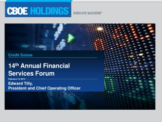 14 th  Annual Financial Services Forum