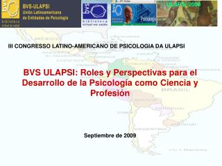 III CONGRESSO LATINO-AMERICANO DE PSICOLOGIA DA ULAPSI