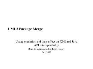 UML2 Package Merge