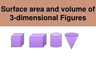 Surface area and volume of 3-dimensional Figures