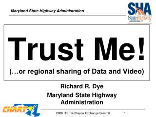Trust Me! (…or regional sharing of Data and Video)