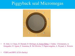 Piggyback seal Micromegas