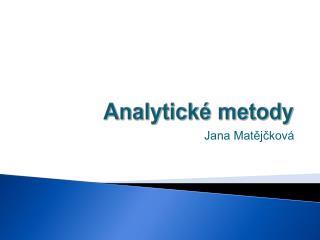 Analytické metody