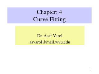 Chapter: 4 Curve Fitting