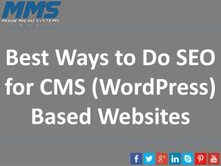 Best Ways to Do SEO for CMS (WordPress) Based Websites