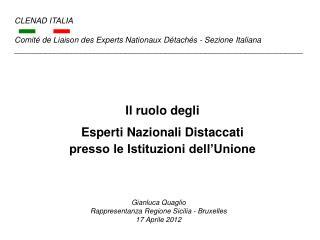 Il ruolo degli  Esperti Nazionali Distaccati presso le Istituzioni dell'Unione