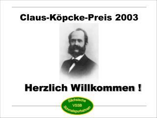 Claus-Köpcke-Preis 2003