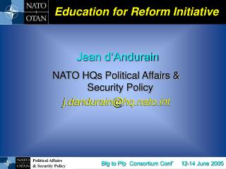 Education for Reform Initiative