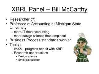 XBRL Panel -- Bill McCarthy