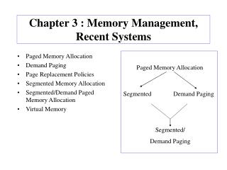 Chapter 3 : Memory Management, Recent Systems