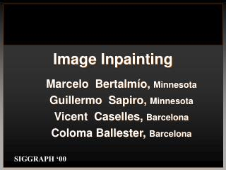 Image Inpainting