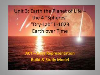 "Unit 3: Earth the Planet of Life –  the 4 ""Spheres"" ""Dry-Lab"" L-1023 Earth over Time"