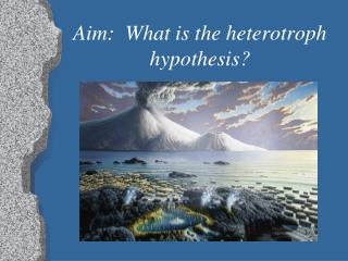 Aim:  What is the heterotroph hypothesis?