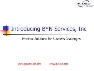 Introducing BYN Services, Inc