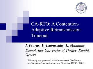 CA-RTO: A Contention-Adaptive Retransmission Timeout