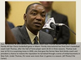 Isiah Thomas fired by Florida International