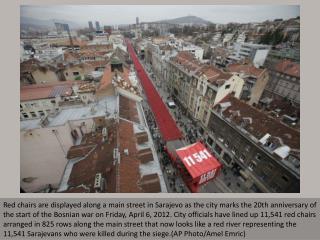 Bosnia War anniversary