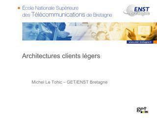 Architectures clients l�gers
