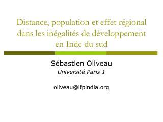 Distance, population et effet régional dans les inégalités de développement en Inde du sud
