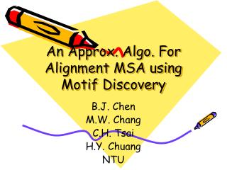 An Approx. Algo. For Alignment MSA using Motif Discovery