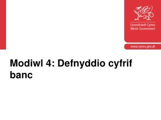 Modiwl 4: Defnyddio cyfrif banc