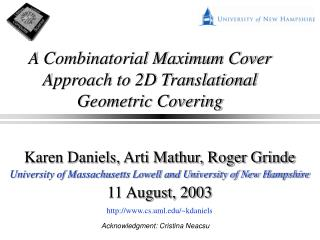 A Combinatorial Maximum Cover Approach to 2D Translational Geometric Covering