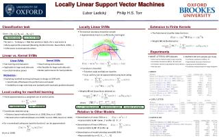 Locally Linear Support Vector Machines