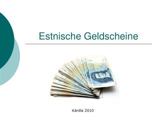 Estnische Geldscheine