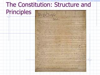 U.S. CONSTITUTION History  Principles