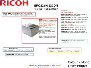 Colour / Mono Laser Printer