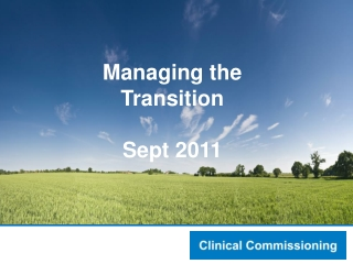 Developing a Commissioning Plan