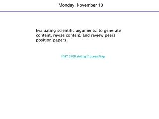 Monday, November 10