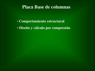 Placa Base de columnas