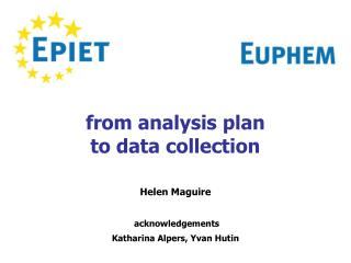from analysis plan   to data collection