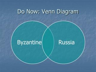 Do Now: Venn Diagram