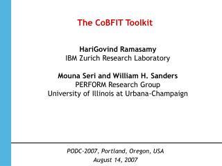 The CoBFIT Toolkit