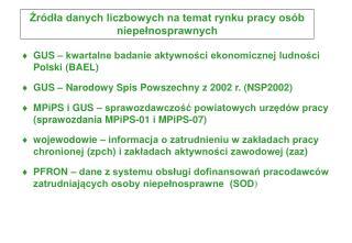 GUS – kwartalne badanie aktywności ekonomicznej ludności Polski (BAEL)